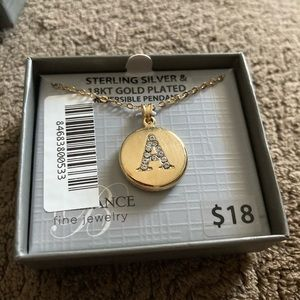 NWTS Ladies Letter A Necklace
